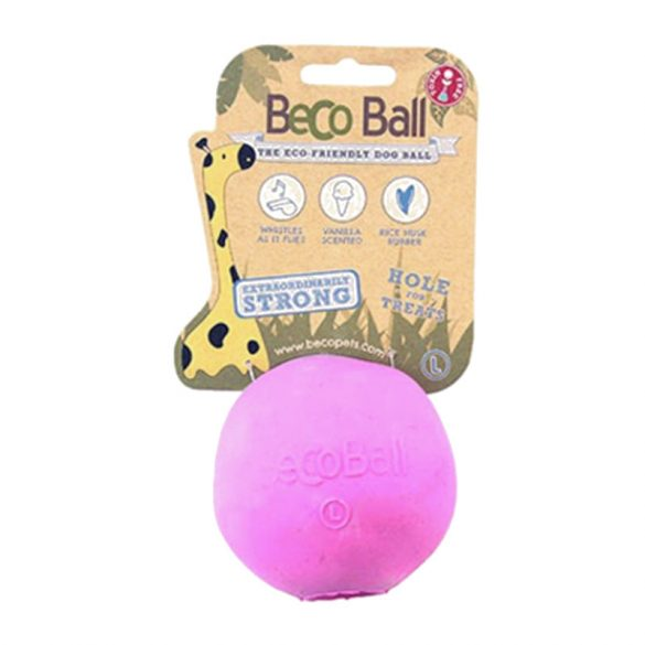 Beco Pets jutalomfalattal tölthető labda - rózsaszín