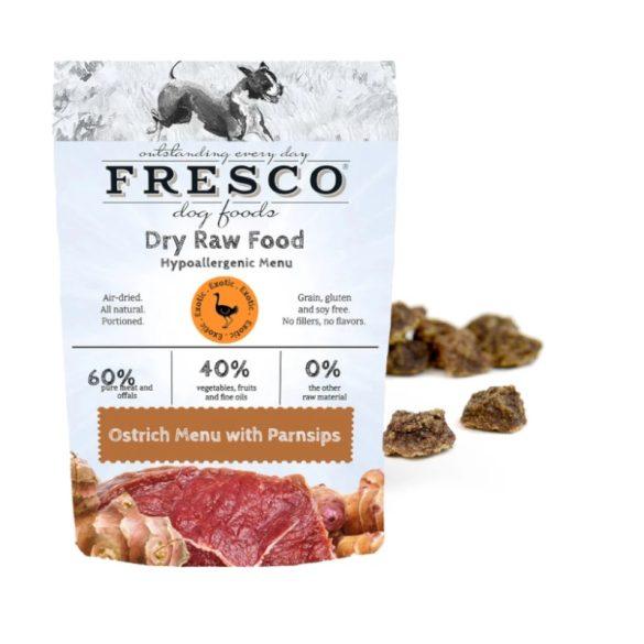 Fagyasztva szárított nyers hipoallergén menü – Strucc 1 kg (Fresco)